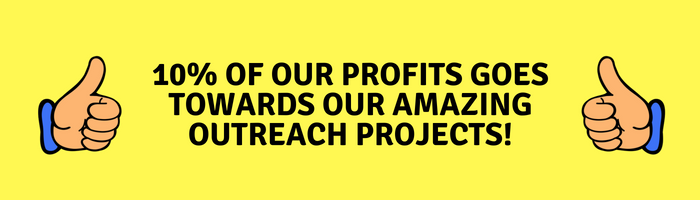 10% Of Profits Going To Outreach Projects